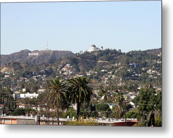 Hollywood Hills From Sunset Blvd Metal Print
