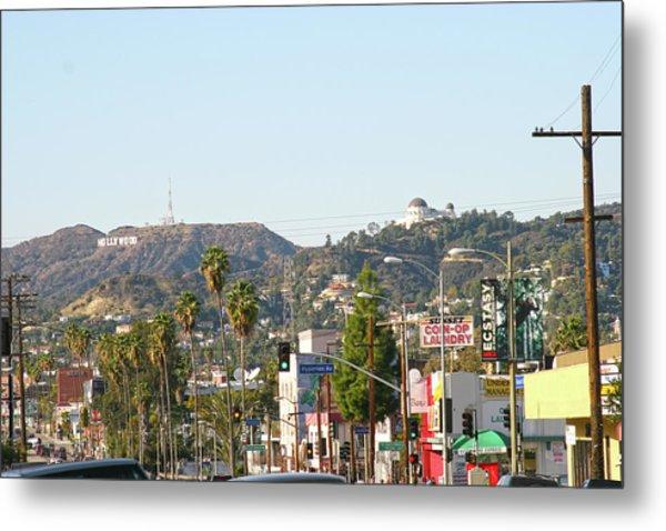 Hollywood Sign Above Sunset Blvd. Metal Print