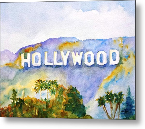 Hollywood Sign California Metal Print