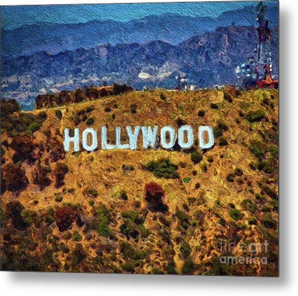 Hollywood Sign, Los Angeles Metal Print