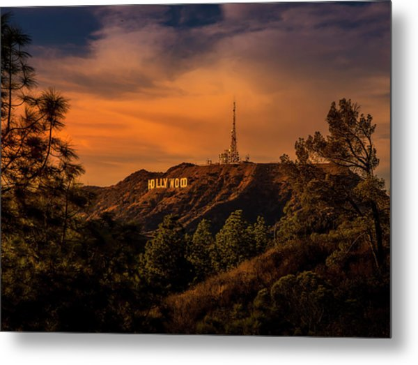 Hollywood Sunset Metal Print