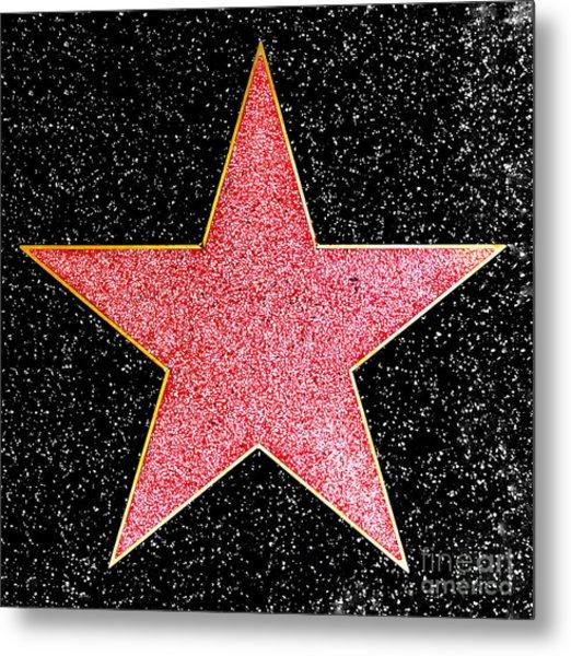 Hollywood Walk Of Fame Star Metal Print