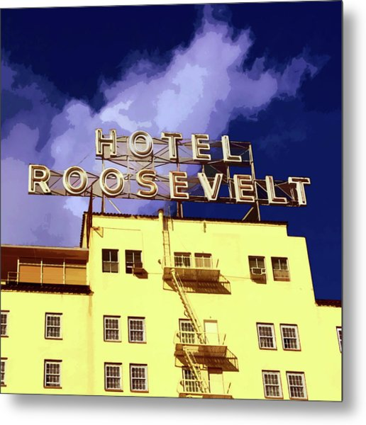 Hollywood's Roosevelt Hotel Metal Print