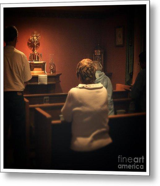 Holy Adoration Altar Metal Print