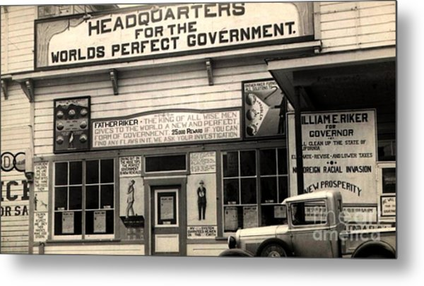 Holy City World Government Santa Clara County California 1938 Metal Print