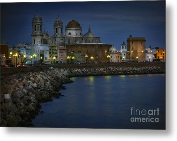 Metal Print featuring the photograph Holy Cross Cathedral Cadiz Spain by Pablo Avanzini