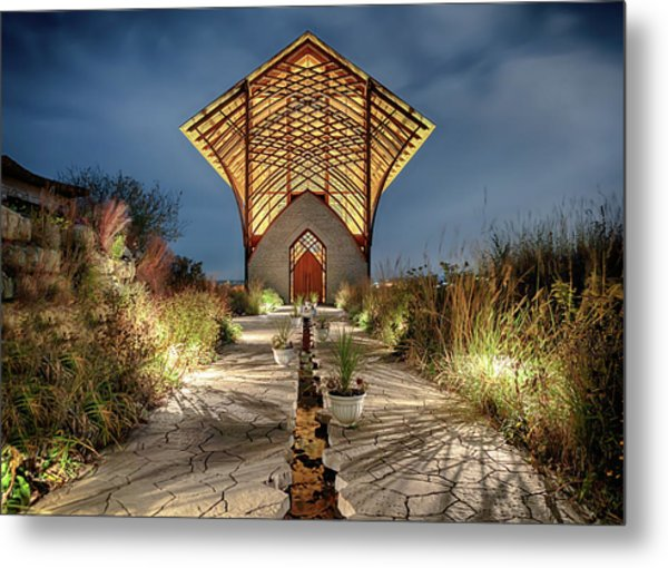 Metal Print featuring the photograph Holy Family Shrine by Susan Rissi Tregoning