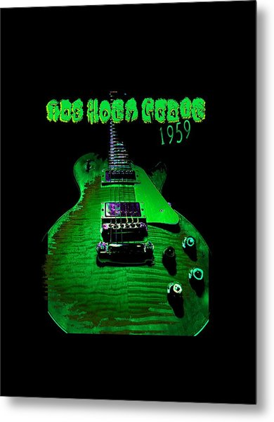 Metal Print featuring the photograph Holy Grail 1959 Retro Relic Guitar by Guitar Wacky