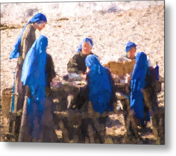 Holy Picnic  At The Beach Metal Print