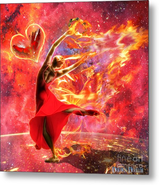 Holy Spirit Fire Metal Print