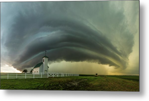 Metal Print featuring the photograph Holy Supercell  by Aaron J Groen