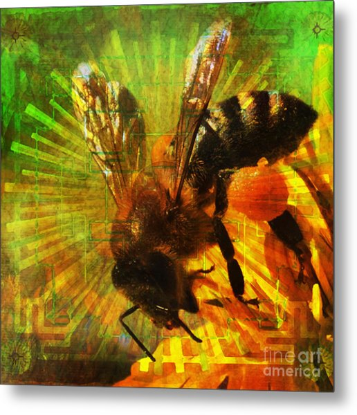 Homage To A Bee 2015 Metal Print