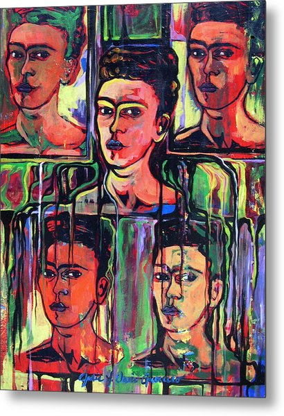 Homage To Frida Kahlo Metal Print