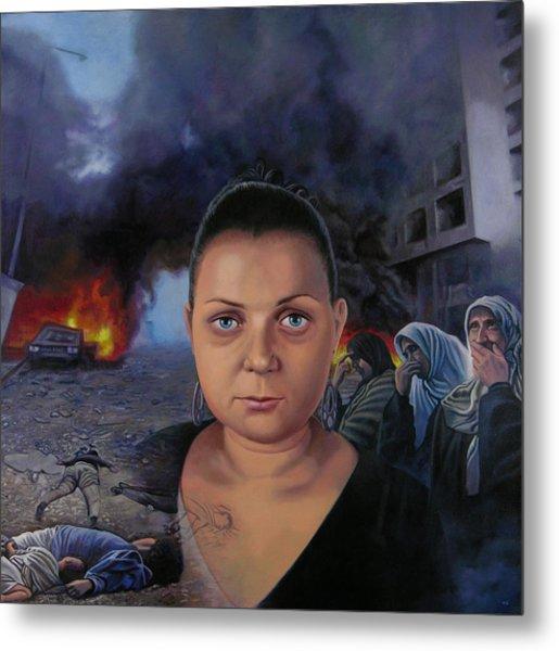 Homage To Layal Nagib Metal Print by Miguel Tio