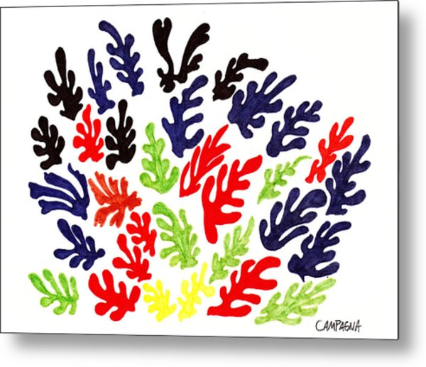 Homage To Matisse Metal Print