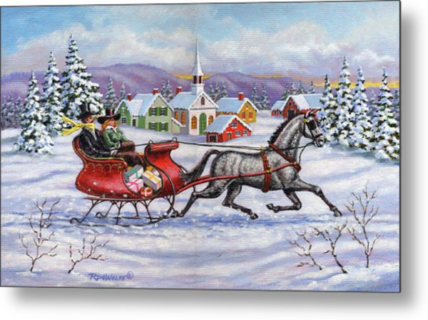 Home For Christmas Metal Print