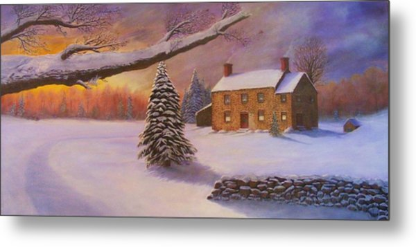Home For The Holidays Metal Print by Jean LeBaron