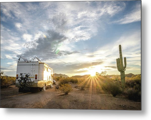 Home In The Desert Metal Print