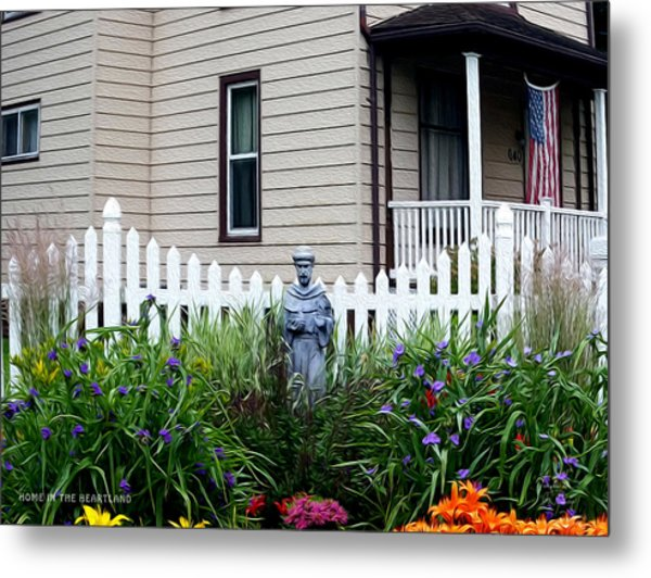 Home In The Heartland Oil Metal Print