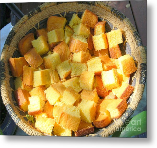 Home Made Cornbread Metal Print