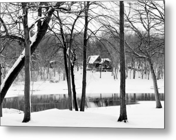 Home On The River Metal Print