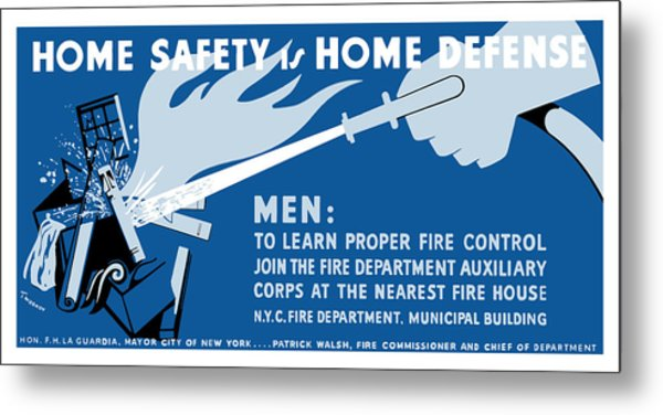 Home Safety Is Home Defense Metal Print