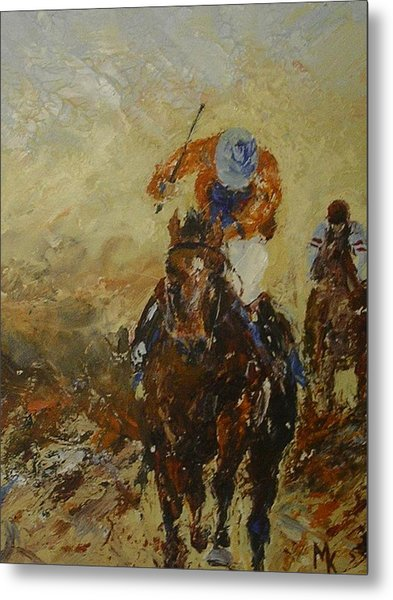 Home Straight Metal Print by Margaret Kent