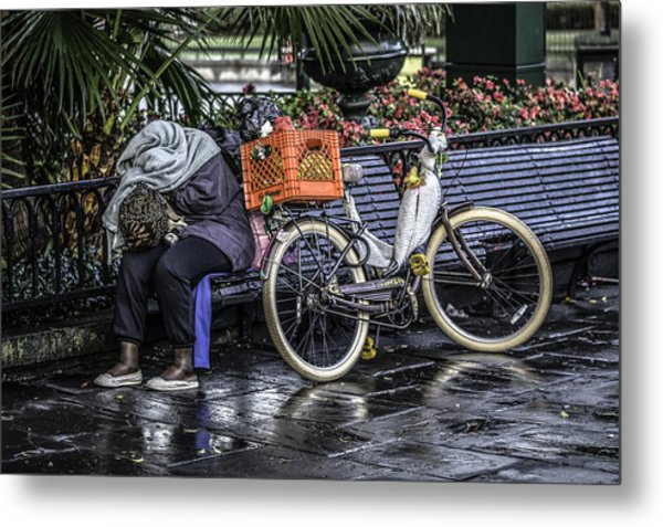 Homeless In New Orleans, Louisiana Metal Print