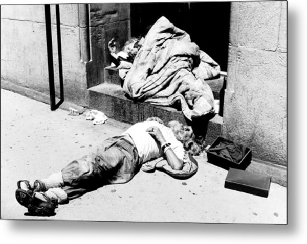 Homelessness Metal Print by Martin Rochefort