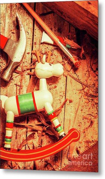 Homemade Christmas Toy Metal Print