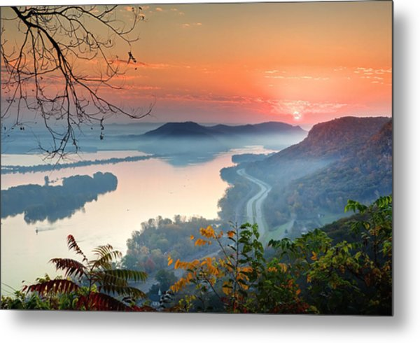 Homer Sunrise Metal Print