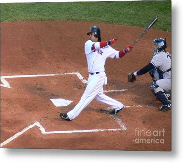 Homerun Swing Metal Print
