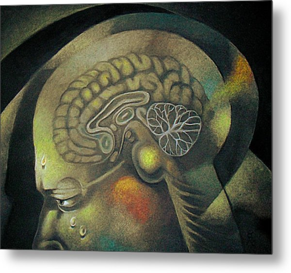 The Anxiety Of Knowledge Metal Print