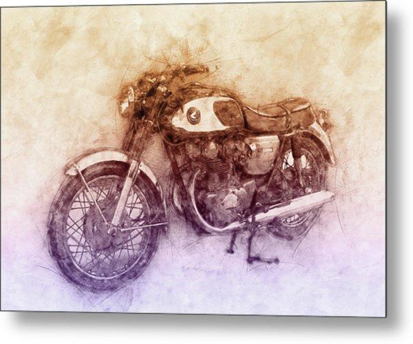 Honda Cb77 - Honda Motorcycles 2 - Motorcycle Poster - Automotive Art Metal Print