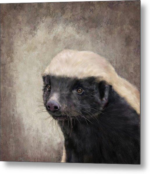 Honey Badger Metal Print