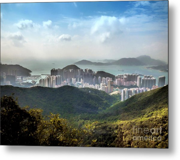 Hong Kong From Victoria Peak Metal Print