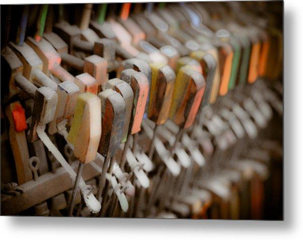 Honky Tonk Piano Keys Metal Print by Keith Sanders