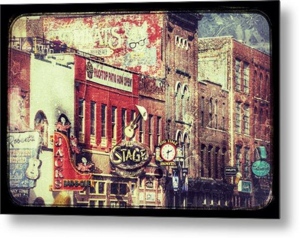 Honky Tonk Row - Nashville Metal Print