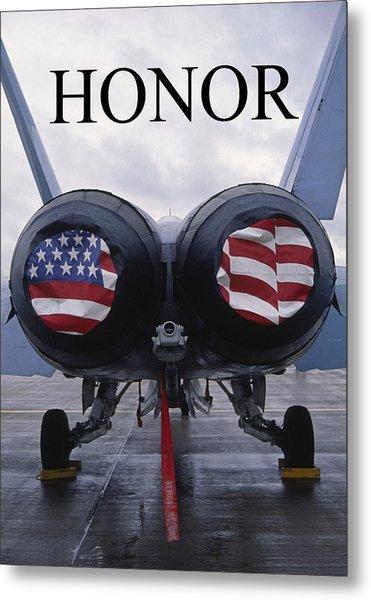 Honor The Flag Metal Print