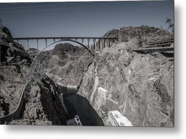 Hoover Dam Bridge Metal Print