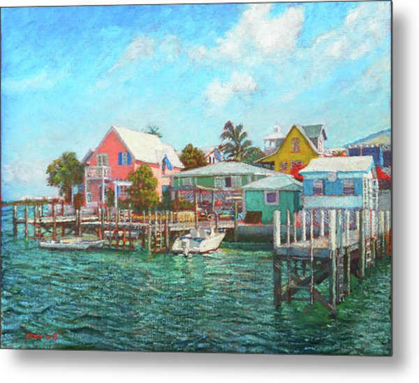 Hope Town By The Sea Metal Print