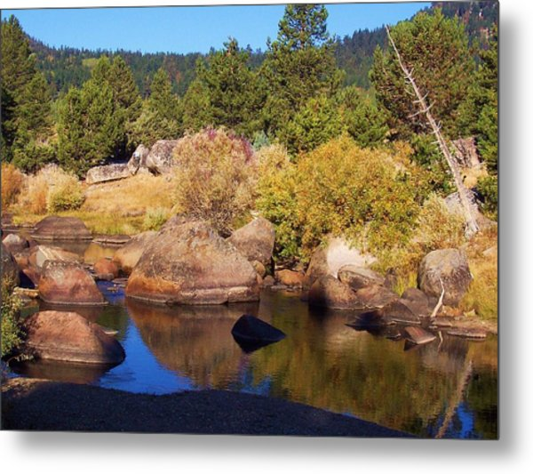 Hope Valley River Metal Print by Russell  Barton