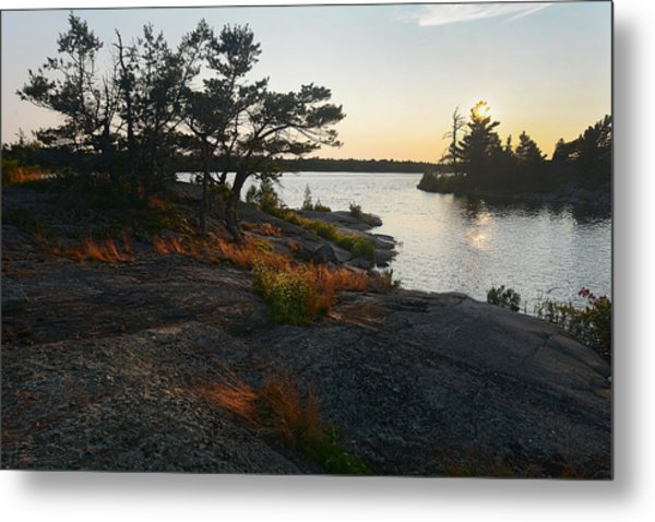 Hopewell Bay Island Rock Grass Metal Print