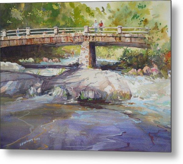 Hopper Bridge Creek Metal Print