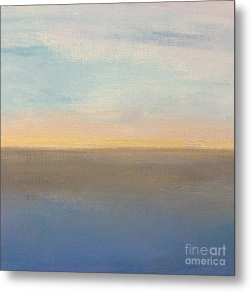 Horizon Aglow Metal Print
