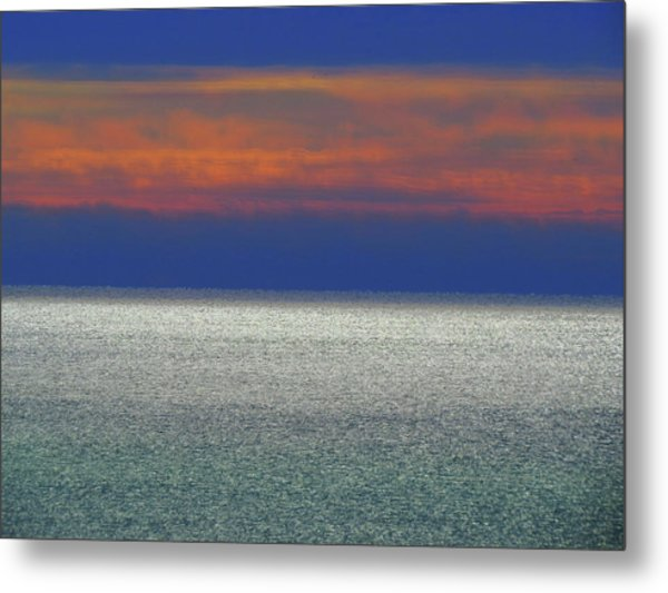 Horizontal Sunset Metal Print