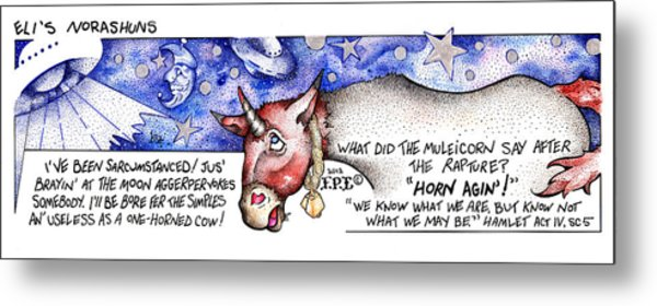 Horn Agin Fpi Cartoon Metal Print