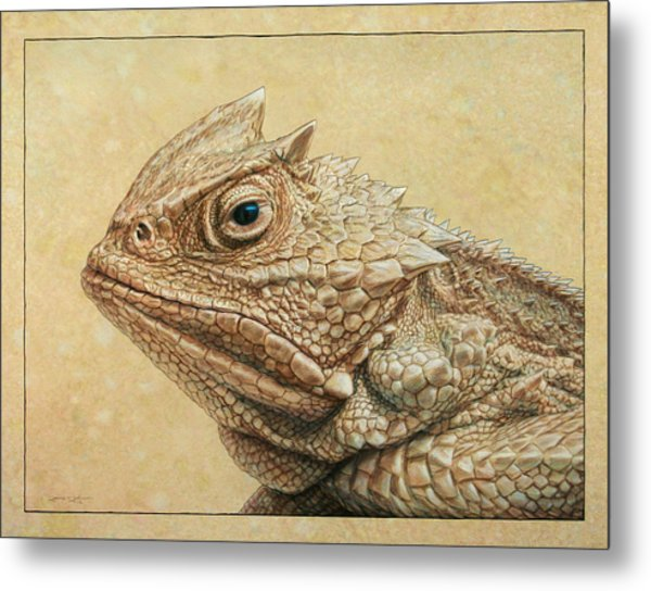 Horned Toad Metal Print