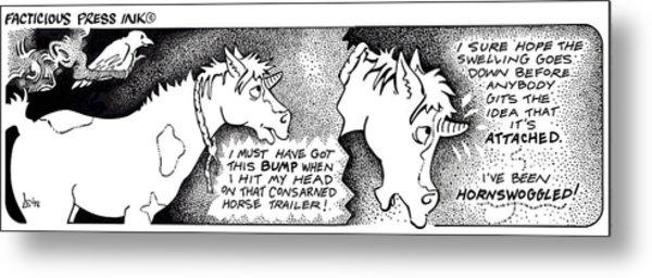 Hornswoggled Fpi Cartoon Metal Print