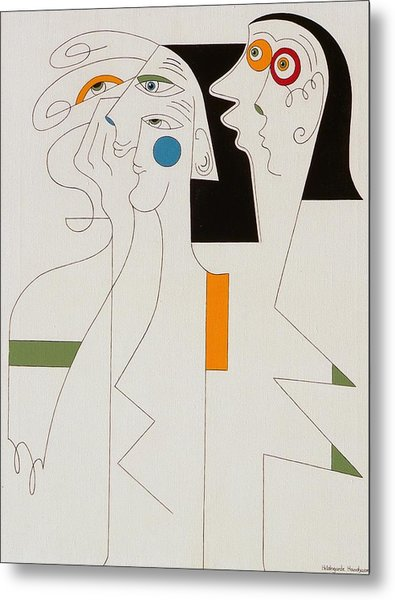 Horror Metal Print by Hildegarde Handsaeme